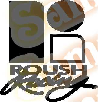 Ford Roush Racing Vinyl Decal Car Performance Stickers
