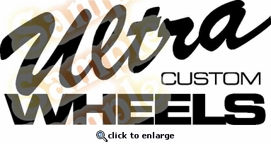 Ultra wheels Vinyl Decal Car Performance Stickers