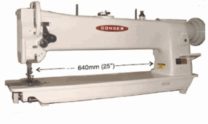"Consew 206RBL-25"" Longarm Compound Walking Foot & Needle Feed Industrial Sewing Machine"