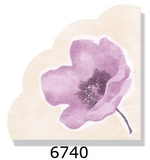 Lavender Poppy Rice Paper napkins 15ct.