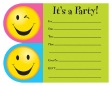 Bright Smiles Happy Birthday Post Card Die Cut Invitations 8ct.