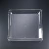 "16"" x 16"" Clear Square Plastic Tray"