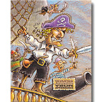 Pirate Party Happy Birthday Invitations 8ct.