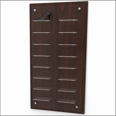 Wall mount shoe display panel 8 x 2 offered by cns for Sneaker wall display