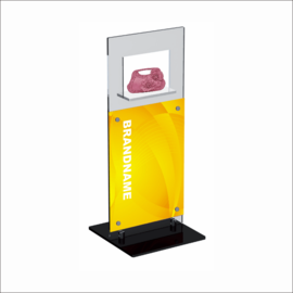 Windo with Poster Panel Counter Top Displays for Bag