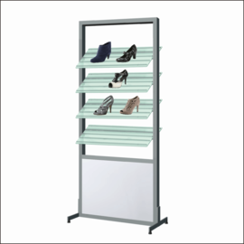 AR151 Shoe Display Shelf System With Mirror