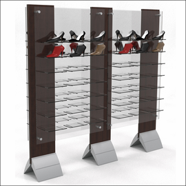 Modular FloorStanding Wing Displays for Shoes