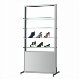 AR251 Shoe Display Shelf System With Mirror