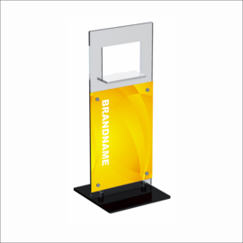Windo with Poster Panel Counter Top Displays