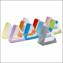 D1 Countertop Prism-Shaped Acrylic Displays