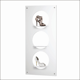 """Shoe Display Panel [AP-7-14-WV-360-SH] 27.5"""" x 55"""" with 3 round shelves"""