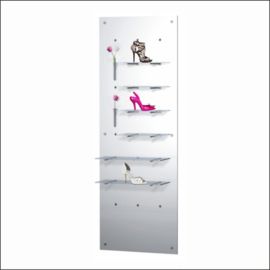 "Shoe Display Panel [POS-7-20] 27.5"" x 78.75"""