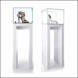GL138-20 Pedestal Showcase for Shoes