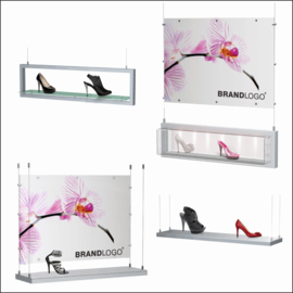 SX Hanging Window Shoe Displays