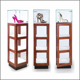 GL140 Square Vitrine Pedestal for Shoes