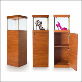 GL112-20 Square Pedestal Showcase for Shoes