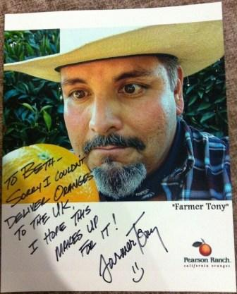 "Signed and framed ""Farmer Tony"" Picture"