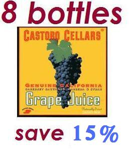 Castoro Cellars Non Alcoholic Grape Juice (8-bottles)