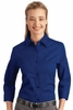 L612 LADIES 3/4 SLEEVE DRESS SHIRT w / emb. logo