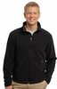 F217 MENS SOFT FLEECE FULL ZIP JACKET w / emb. logo