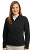 L217 LADIES SOFT FLEECE, FULL ZIP JACKET w / emb. logo