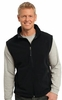 F219 MENS SOFT FLEECE FULL ZIP VEST w / emb. logo