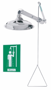 Haws 8123HPCP Horizontal Supply Drench Shower