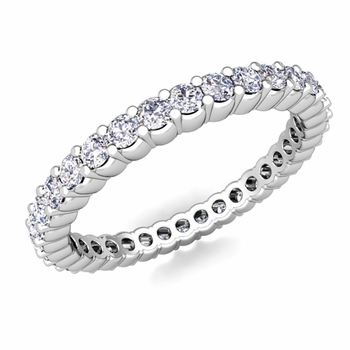 Petite Pave Diamond Eternity Ring in Platinum