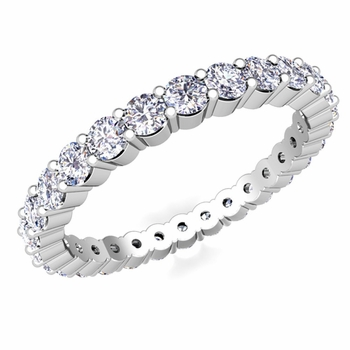 Pave Diamond Eternity Ring in Platinum 1.00 cttw