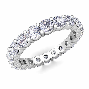 Diamond Eternity Ring Band in Platinum 1.60 cttw