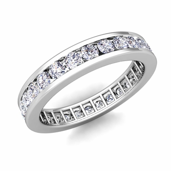 Channel Set Diamond Eternity Band in Platinum 1.00 cttw