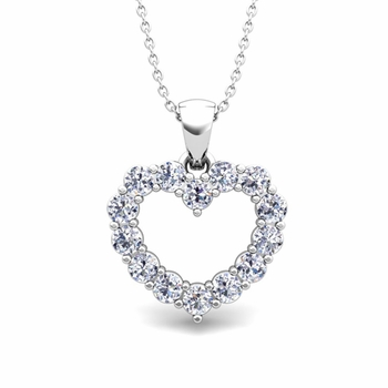 Heart Diamond Necklace in 14k Gold Pendant
