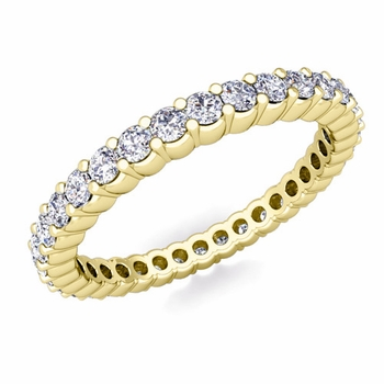 Petite Pave Diamond Eternity Ring in 18k Gold 0.50 cttw