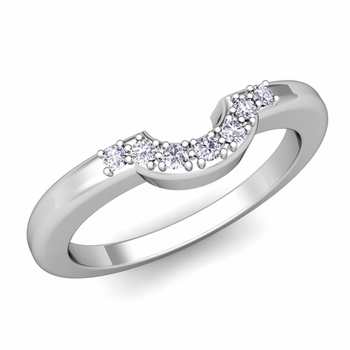 Build Wedding Ring Band for Her with Diamonds Gemstones