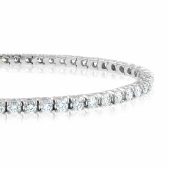 Diamond Tennis Bracelet in Platinum Bracelet G, SI1, 3.38 cttw 7 inches