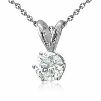 14ky Round 6-Prong 3.8mm Pendant Setting