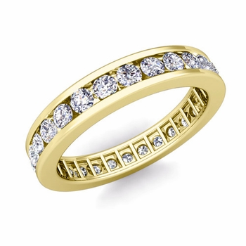 Channel Set Diamond Eternity Band in 18k Gold 1.00 cttw