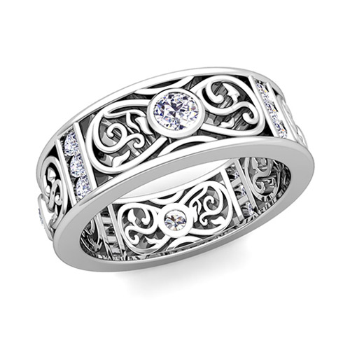 celtic knot diamond wedding band ring for men in platinum. Black Bedroom Furniture Sets. Home Design Ideas