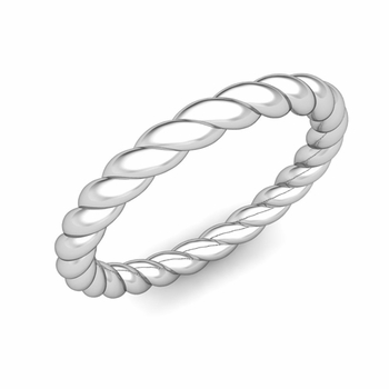 Twisted Cable Wedding Ring Band in Platinum
