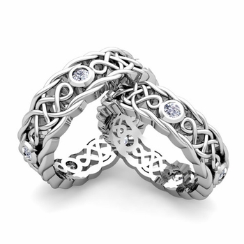 Matching Celtic Knot Wedding Band in Platinum Diamond Wedding Ring