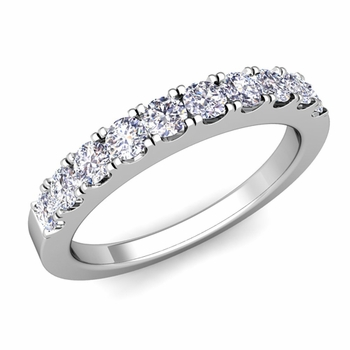 Brilliant Pave Diamond Wedding Ring Band in Platinum
