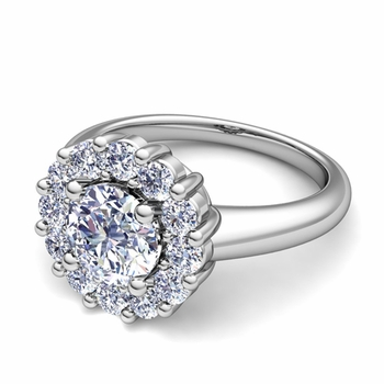 Classic Halo Diamond Engagement Ring in 14k Gold
