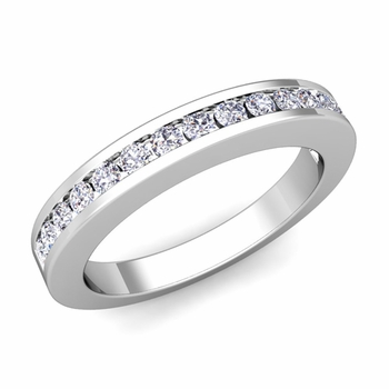 Channel Set Diamond Wedding Ring Band in 14k Gold, 0.25 cttw