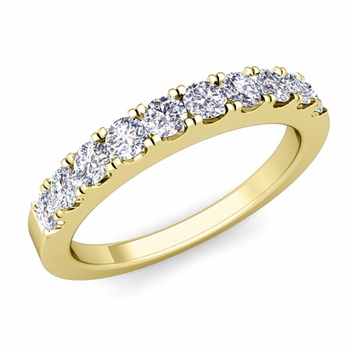 Brilliant Pave Diamond Wedding Ring Band in 18k Gold