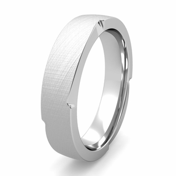 Flat Edge Comfort Fit Wedding Band