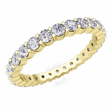 Pave Diamond Eternity Ring in 18k Gold (1.00 cttw)