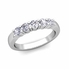 5 Stone Diamond Wedding Ring in Platinum (0.55 cttw)