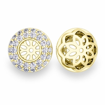 Pave-Set Diamond Earring Jackets in 18k Gold, 5mm