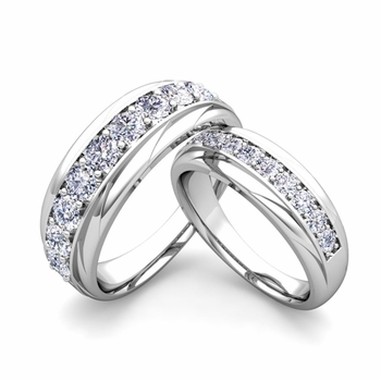 Matching Wedding Band in Platinum Brilliant Diamond Wedding Rings
