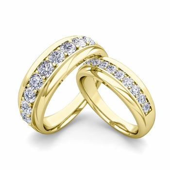 Matching Wedding Band in 18k Gold Brilliant Diamond Wedding Rings